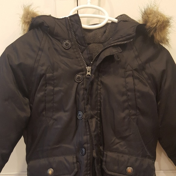 df1064e088b Gap Boys Black Down Parka Coat